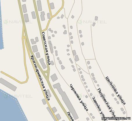 Бесплатная GPS карта города
